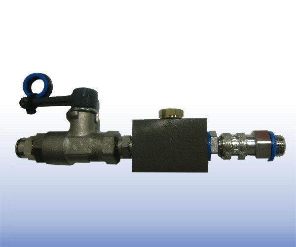 De-airing Block with Valve for Pressure Transducer
